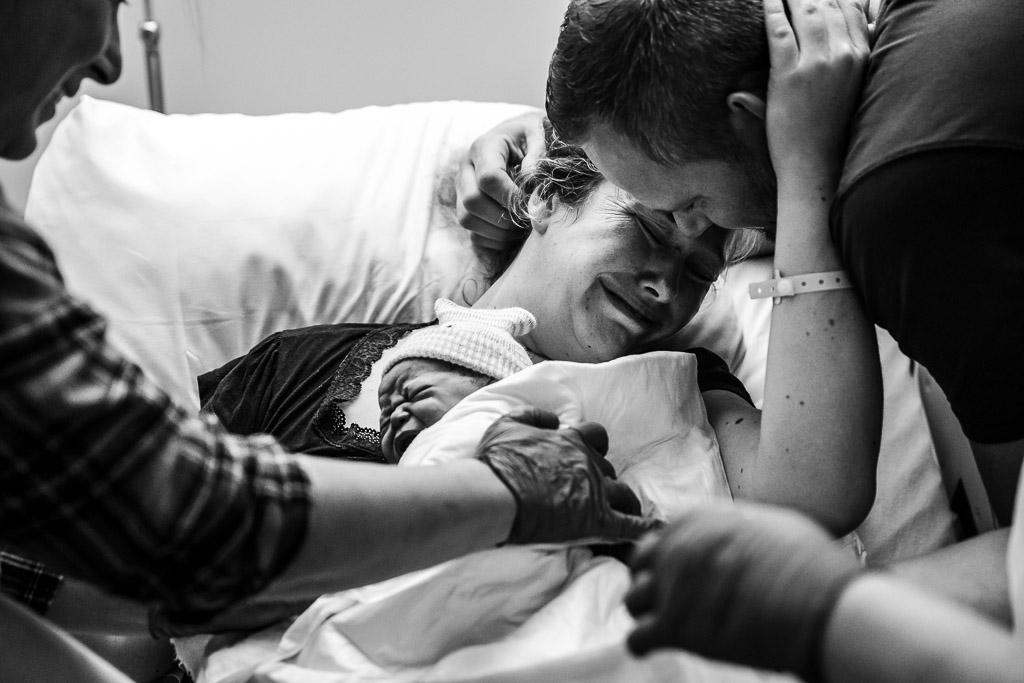 Emoties bij de ouders nadat hun dochter is geboren